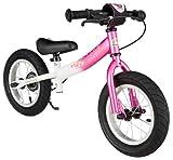 Bike*star 30.5cm (12 Inch) Kids Learner Balance Beginner Run Bike Sport - Pink & White