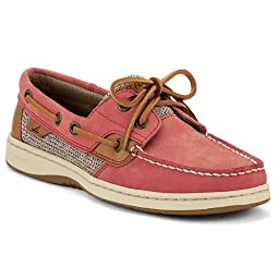 Sperry Top-Sider Women\'s Bluefish 2-Eye Washed Red Boat Shoe 7 M (B)