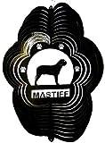 Stainless Steel Mastiff Dog 12 Inch Wind Spinner, Black