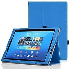 buy Moko Sony Xperia Z4 Tablet Case - Slim Folding Cover Case For Sony Xperia Z4 Tablet 10.1 Inch Andriod 5.0 Device, Blue