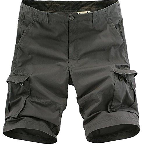 MingTai Pantaloni da lavoro multi-Tasca Taglia 38 Grigio