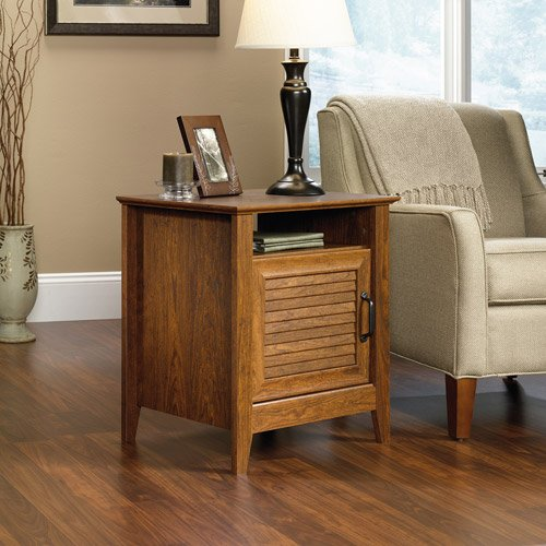Sauder End Table, Milled Cherry Storage Living Room, Bedroom Tv Room back-729862