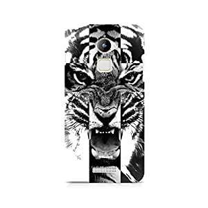 Motivatebox- Ferocious Tiger Premium Printed Case For Coolpad Note 3 Lite -Matte Polycarbonate 3D Hard case Mobile Cell Phone Protective BACK CASE COVER. Hard Shockproof Scratch-