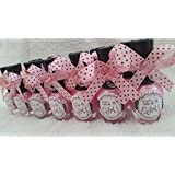 """Black Polka dots """"It's a Girl"""" Pink Nail Polish Baby Shower Favor, Party pack Memories"""