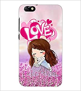 PrintDhaba Love Girl D-2487 Back Case Cover for HUAWEI HONOR 4X (Multi-Coloured)