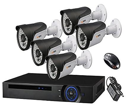 Puffin 8-Channel Dvr, 5(PF-6C833) 1000TVL Bullet CCTV Cameras