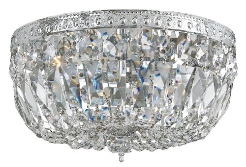 B0037U2ZNU 712-CH-CL-MWP Richmond 3LT Flush Mount, Chrome Finish with Clear Hand Cut Crystal