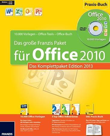 Das Große Franzis Office Paket  - Edition 2013