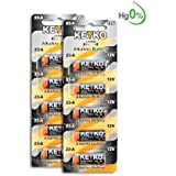 A23 Alkaline 12V Battery 23A . 10-Pcs Pack Genuine KEYKO ® JAPAN High Tech™ for Remote controls , alarm , keyless entry , electronics and so more