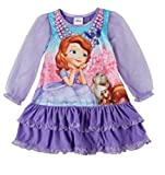 Disney Sofia the First Todder Girls Ruffle & Lace Nightgown 3t