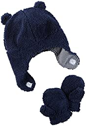 Carter\'s Baby Boys Winter Hat-glove Sets D08g187, Navy, 0-9M