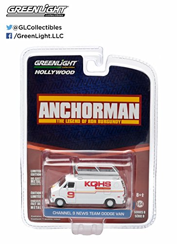 Greenlight Hollywood Series 8 - Anchorman Channel 9 News Team Dodge Van