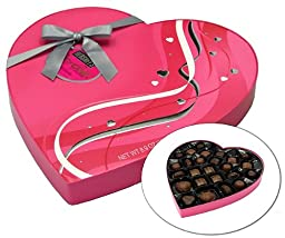 Hershey\'s Pot of Gold Assorted Milk and Dark Chocolate Premium Collection, Valentines Heart Box, 8.9-Ounce Box