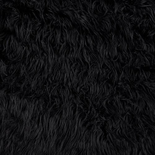 Faux Fur Mongolian Black Fabric By The YD