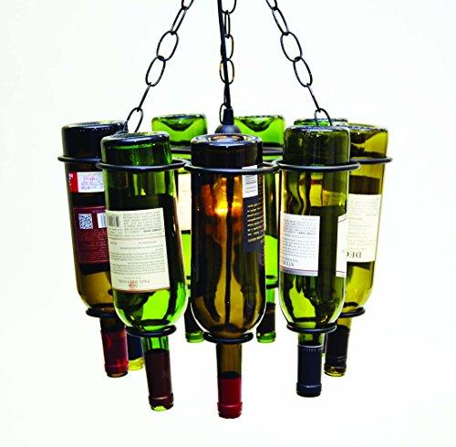 Hanging Wine Bottle Pendant Lamp (9 Bottles)