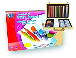 Art Set For The Young Artist Has 68 Pieces In A Beautiful Hinged Box from WINSOR & NEWTON