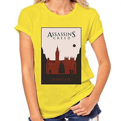 Assassin's Creed Syndicate-Maglietta classica da donna giallo XXL