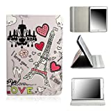 Lerway Pink Paris Tower & Heart PU Leather Smart Case Cover with Stand for Apple iPad Mini 7.9 ''Tablet