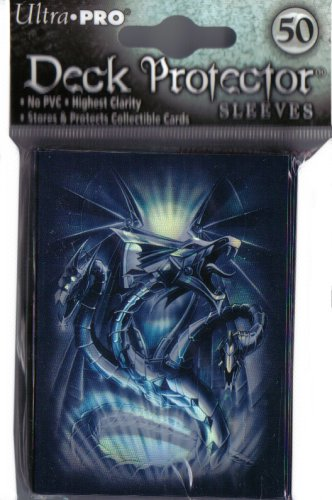 Navy Diamond Dragon Deck Protectors (50 ct.) - 1