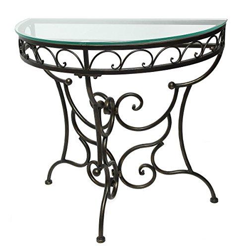 94054 Dresden Tisch Halbrund mit Glas 80 cm