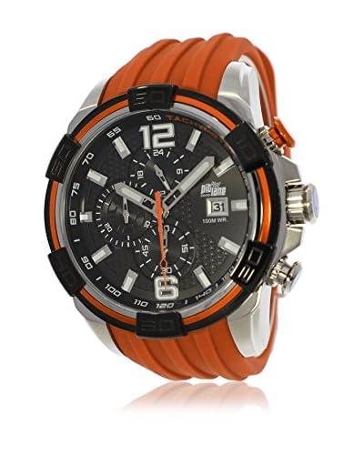 Pit Lane Uhr mit Miyota Uhrwerk Pl-1008-6 orange 50 mm