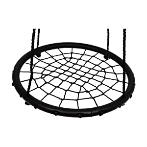 Childrens Kids Rope Garden Birds Crows Nest Spider Web Swing Seat Childs Toy