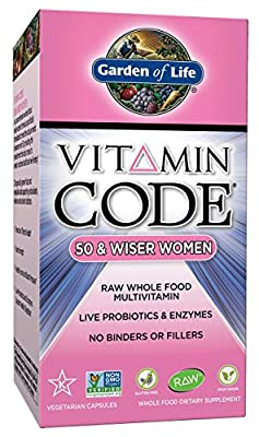 Garden of Life Vitamin Code 50 and Wiser Women's Multivitamin Supplement, 240 Count