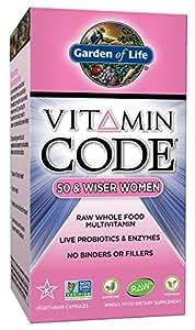 Garden of Life Vitamin Code 50 & Wiser Women's Multi, 240 Capsules