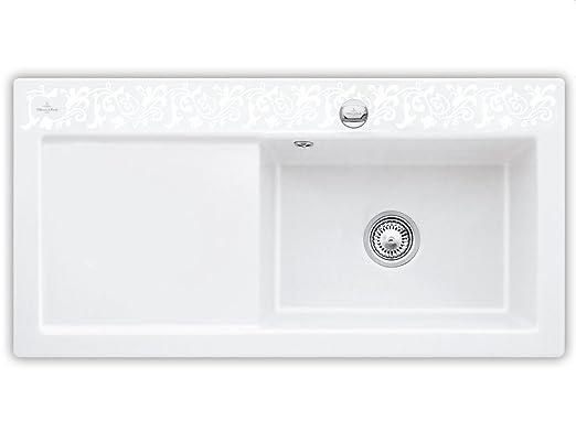 Villeroy & Boch Subway 60 XL White Pearl Keramik-Spule Dekor Weiß Kuchenspule