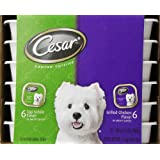Cesar Canine Cuisine Variety Pack (Top Sirloin, Grilled Chicken) for Small Dogs, 3.5-Ounce Trays (Pack of 24) (Misc.) By Cesar          Buy new: $33.57 8 used and new from $25.99     Customer Rating: