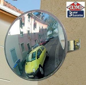 30cm Vialux Polymir Unbreakable 2 Way Convex Mirror - Traffic, Driveway, Safety & ...
