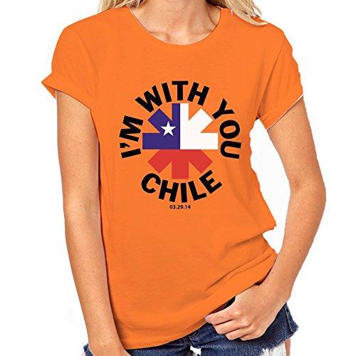 Red Hot Chili Peppers Cile-Maglietta classica da donna arancione XX-Large