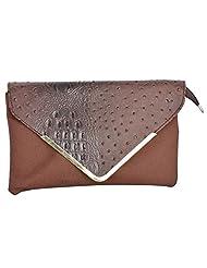 Bhawna Enterprises Leather Adjustable Strap Women's Handbag (BE_SMBR33, Brown)