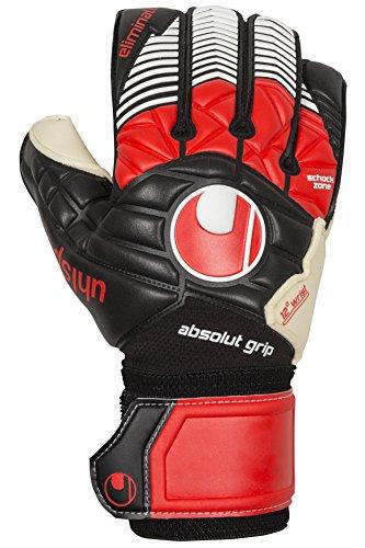 Guanti Uhlsport Eliminator Absolutgrip, Unisex, Handschuhe ELIMINATOR ABSOLUTGRIP, Nero/Rosso/Bianco