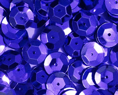 5mm CUP SEQUINS Royal Blue Loose sequins for embroidery, applique, arts, crafts, and embellishment.