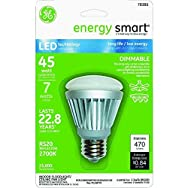 GE Energy Smart R20 Dimmable LED Floodlight Light Bulb-7W DIMMABLE R20 LED BULB
