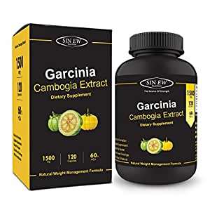 Sinew Nutrition Garcinia Cambogia Extract -(120 Capsules) 1500 mg Per Serving, 100 % Veg, Pure & Natural Weight Management & Appetite Suppressant Supplement