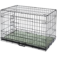 Confidence Pet Deluxe 2 Door Dog Cage Crate with Bed X Large