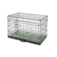 Confidence Pet Deluxe 2 Door Dog Cage Crate with Bed Large