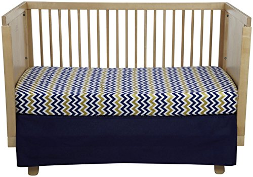 New Arrivals Inc Sweet and Simple Golden Days 2 Pc Crib Set- Navy