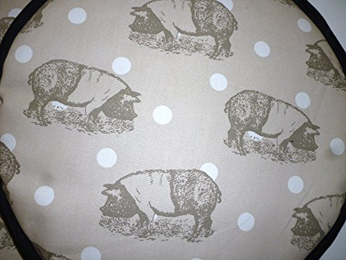 Pair of Rare Breed Saddleback Pigs Range Cooker Hob Lid Covers Hob Top Pads
