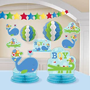 Amazon.com: Ahoy Baby Room Decorating Kit Blue Boy Shower