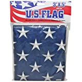 IIT 09900 US Flag Stitch Embroidered Stars and Stripes, 3-Feet x 5-Feet (Discontinued by Manufacturer)