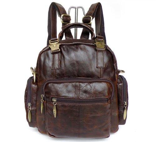 1ST Excellent Vintage HANDMADE Leather Men's Backpack Handbag Casual Go Hiking Bag Messenger Bag,M22
