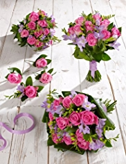 Pink and Lilac Wedding Rose and Freesia Collection 2