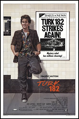 Original 1985 Turk 182 Movie Poster