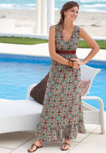 Jewel-Waist Maxi Dress