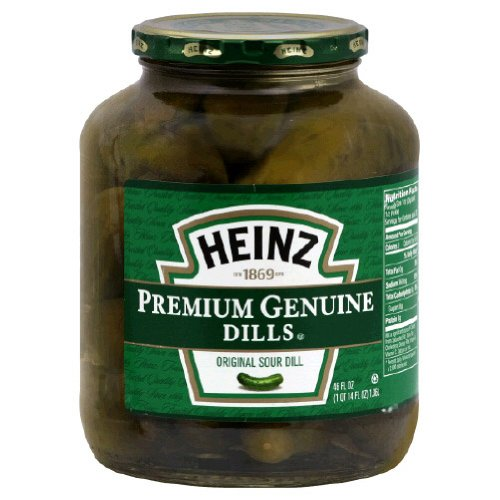 Heinz Pickle Genuine Dill 46 OZ Pack of 6