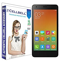 Cellbell Premium Xiaomi Redmi 2 / Redmi 2 Prime / Redmi 2s (Clear) Tempered Glass Screen Protector (Comes with Warranty,User guide,Complimentary Prep cloth)-Bronze Edition