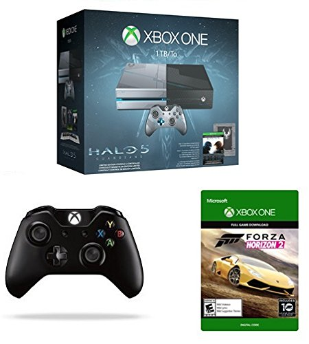 Xbox One 1TB Console – Halo 5: Guardians Limited Edition Bundle + Xbox One Wireless Controller + Forza Horizon 2 [Emailed Digital Code]